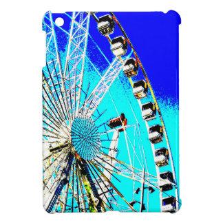 fun fair in amsterdam ferris wheel and high tower iPad mini cover