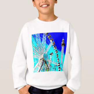 fun fair in amsterdam ferris wheel and high tower sweatshirt