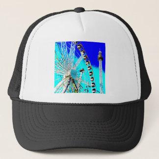fun fair in amsterdam ferris wheel and high tower trucker hat