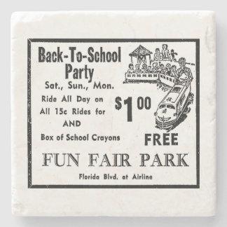 Fun Fair Park Ad 1 Stone Coaster