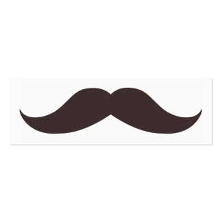 Fun Fake Mustache Skinny Business Card