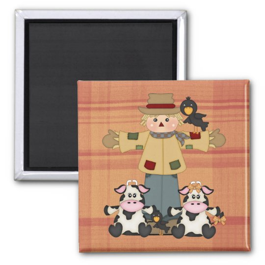 Fun fall friends magnet