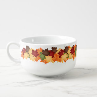 Fun Fall leaf pattern soup mug