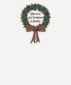 Fun Family Christmas Wreath T Shirts