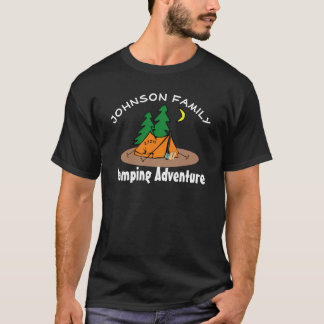 "Fun ""(Family Name) Camping Adventure"" T-Shirt"