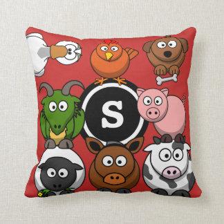 Fun Farm Animals Cushion