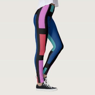 Fun Fashion Leggings-Coral/Pink/Black/Blue/Aqua Leggings