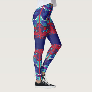 Fun Fashion Leggings-Red/White/Blue/Purple/Aqua Leggings