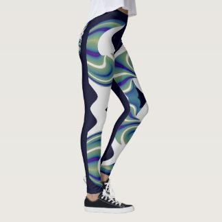 Fun Fashion Leggings-White/Black/Blue/Purple Leggings