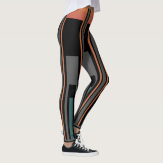 Fun Fashion Leggings-Women-Black/Orange/Gray/Aqua Leggings