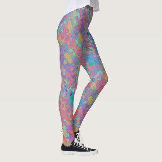 Fun Fashion Leggings-Women-Blue/Coral/Gold/Aqua Leggings