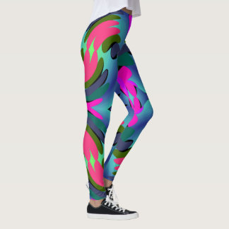 Fun Fashion Leggings-Women-Pink/Blue/Green/Aqua Leggings