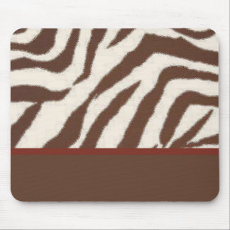 Fun & Fashionable Brown/Red Giraffe Print Mouse Pad