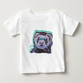 Fun FERRET  bright colorful Pop Art Baby T-Shirt