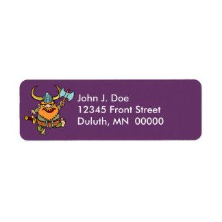 Fun & Festive Happy Viking Return Address Label