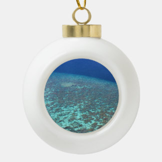 Fun Festive Maldives Ocean Reefs Custom Ceramic Ball Christmas Ornament