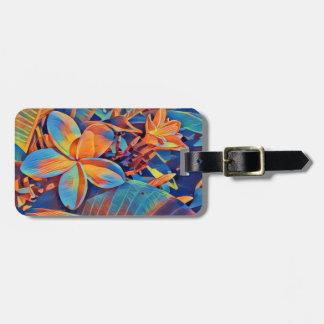 Fun-filled frangipani luggage tag