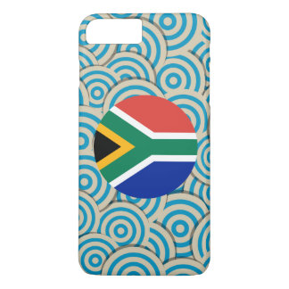 Fun Filled, Round flag of South Africa iPhone 7 Plus Case