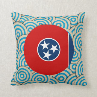 Fun Filled, Round flag of Tennessee Throw Pillow