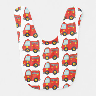Fun Firetruck Pattern Design Bib