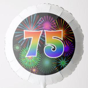 Fun Fireworks Rainbow Pattern 75 Event Balloon