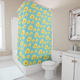 Fun Fish Pattern, Beach Ocean Aquatic Custom Color Shower Curtain