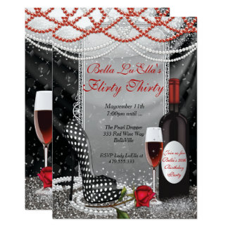 Fun Flirty Birthday Party Invitations