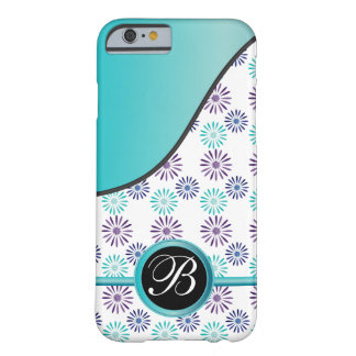 Fun Floral Monogrammed Design Barely There iPhone 6 Case