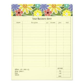Fun Florals Bright Small Order Form Flyer