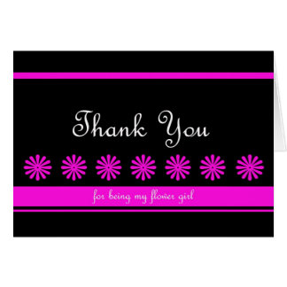 Fun Flower Girl Thank You Card
