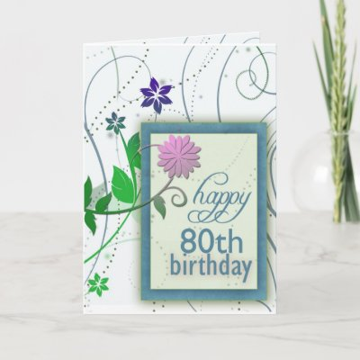... design for the 80th birthday party ... cards, posta