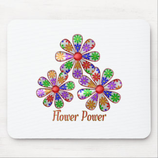 Fun Flower Power Mouse Pad