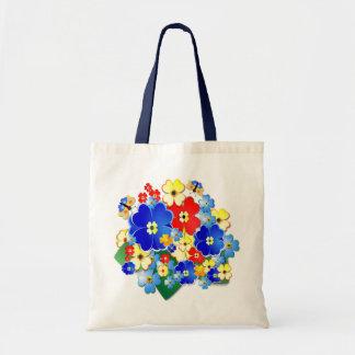 Fun Flowers  ~ Budget Tote Bags