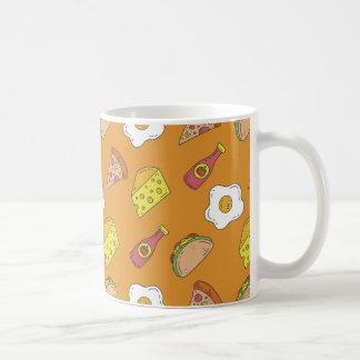 Fun Food Pattern Coffee Mug