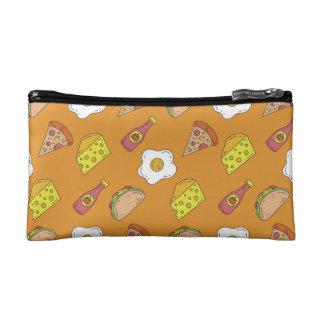 Fun Food Pattern Cosmetic Bag