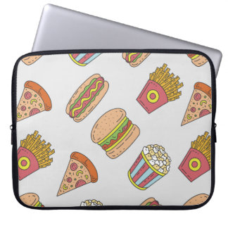 Fun Food Pattern Laptop Sleeve