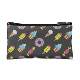 Fun Food Pattern Makeup Bags