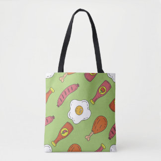 Fun Food Pattern Tote Bag