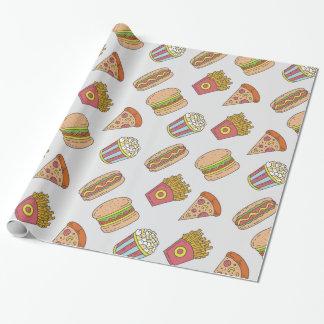 Fun Food Pattern Wrapping Paper