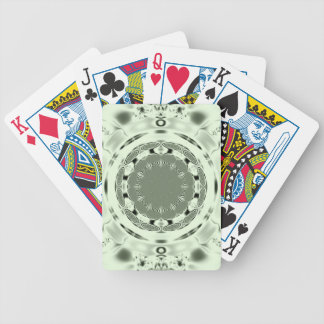 Fun Fractal Blank Background Bicycle Playing Cards