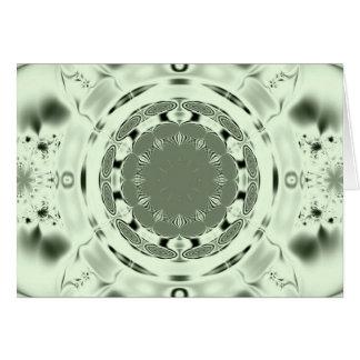 Fun Fractal Blank Background Card