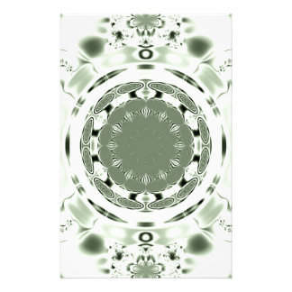 Fun Fractal Blank Background Personalized Stationery
