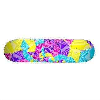 Fun Fractal Stripes Skateboards