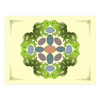 Fun Frog Mandala Postcard