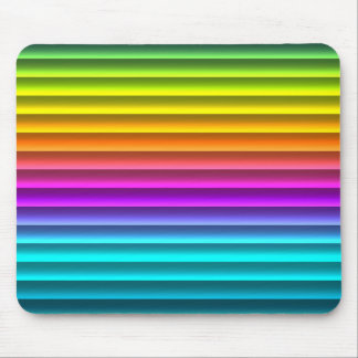 Fun Funky Modern Rainbow Stripes Pattern Mouse Pad