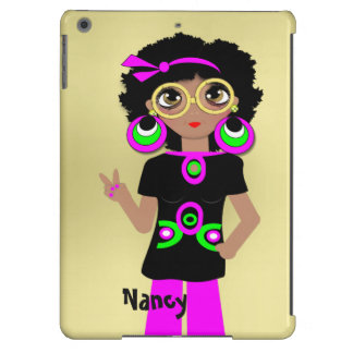 Fun Funky Psychedelic Hippy Chick iPad Air Covers
