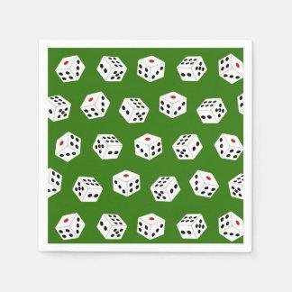 Fun Gambling dice Casino pattern party napkins Paper Serviettes