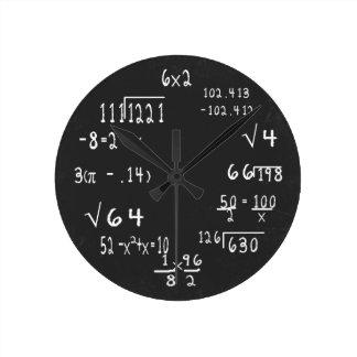 Fun Geek Math Round Clock