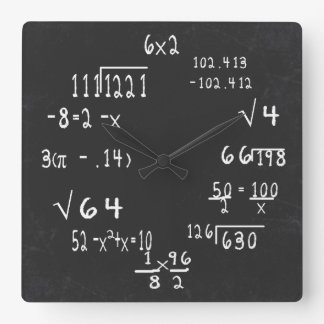 Fun Geek Math Wallclock