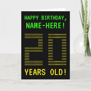 Fun Geeky Nerdy 20 YEARS OLD Birthday Card